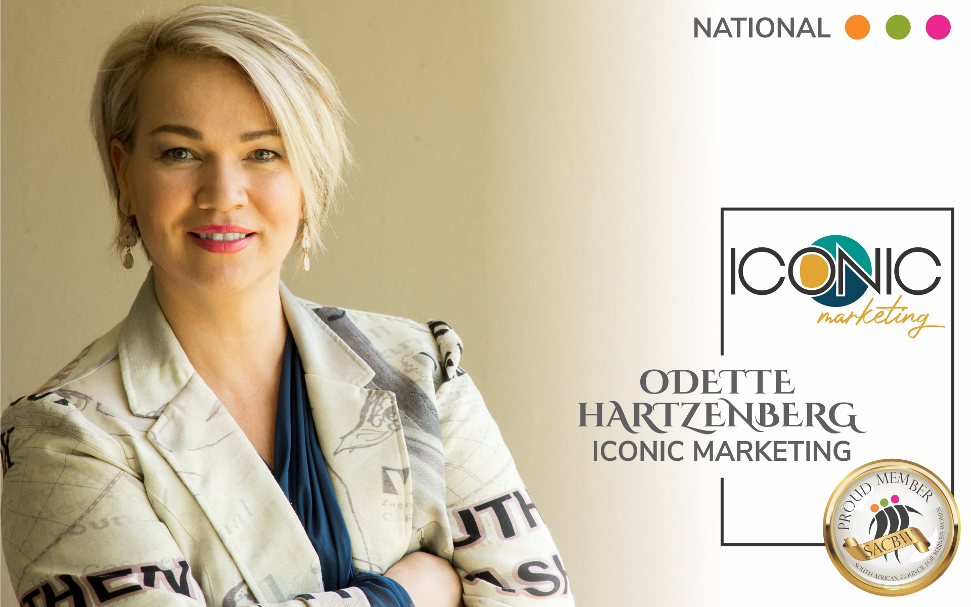 Odette Hartzenberg is a Graphic designer. Iconic Marketing focus on online marketing, Brand Identity Development and website development.