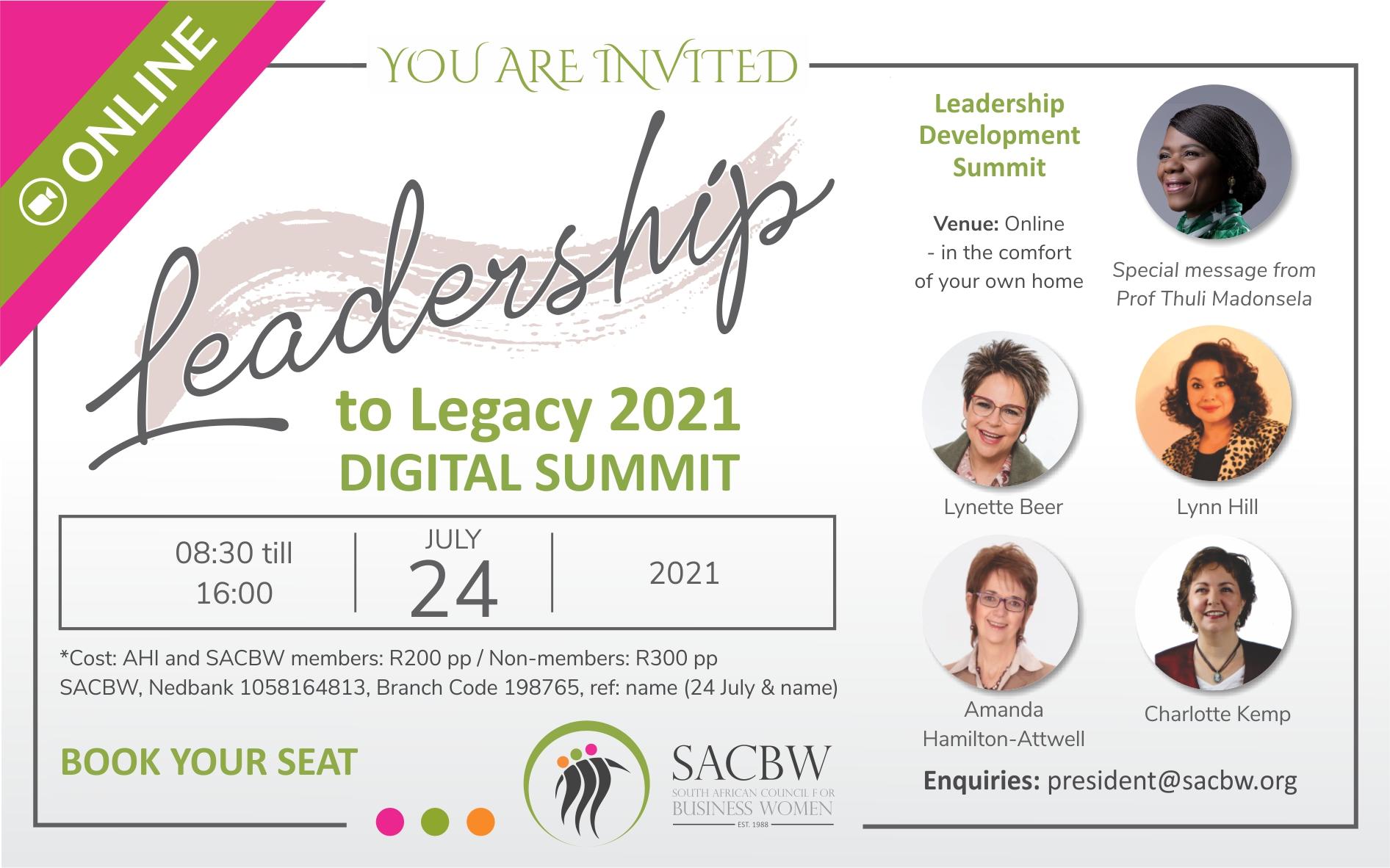 Leadership to Legacy Summit