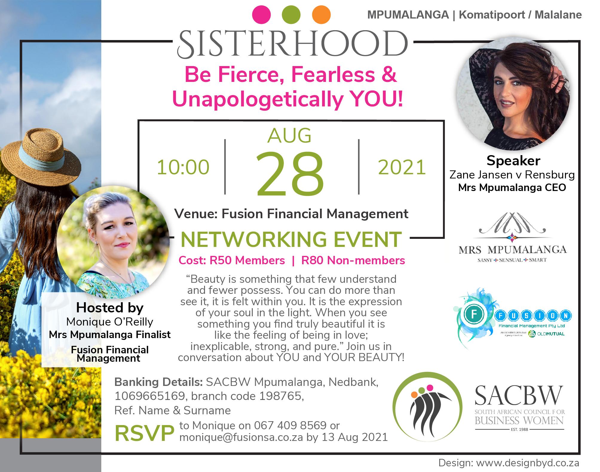 August Event Image for SACBW Mpumalanga