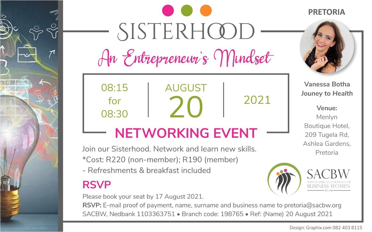 Pretoria Event Image for August